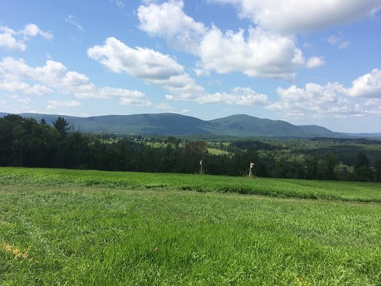 Sheffield, MA: View of Taconic Mountains from Hurlburt's Hill Top