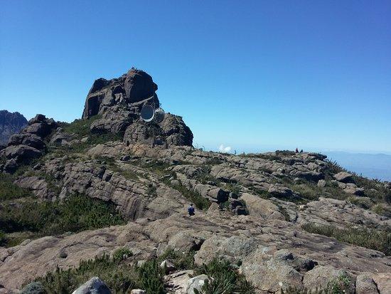 Itatiaia, RJ: Essa foto é do platô. Aquela elevação lá atrás é o pico.