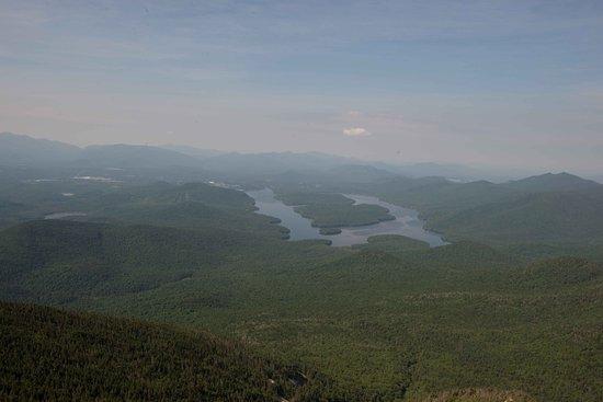 วิลมิงตัน, นิวยอร์ก: View of Lake Placid from Whiteface Mountain.