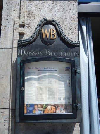 Weisses Bräuhaus: menu