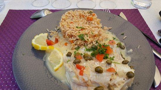 La raie et son riz aux petits lgumes photo de la table for La table de laurene