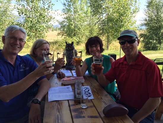Bozeman, MT: WIth our friends & neighbors enjoying Outlaw Brewery