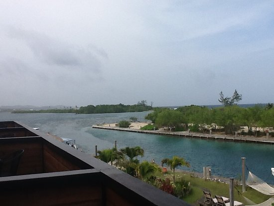 Barefoot Cay: View to the Caribbean from the loft suite balcony