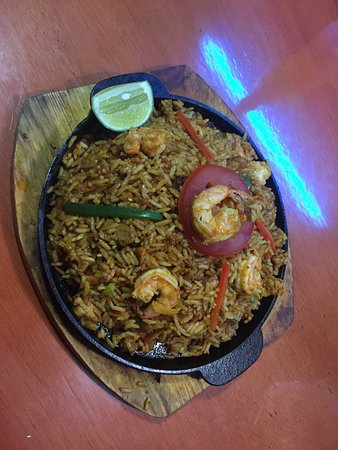 Puerto Baquerizo Moreno, Ecuador: Delicious seafood rice!