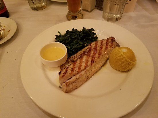 A la Lucia: Grilled Rockfish with spinach