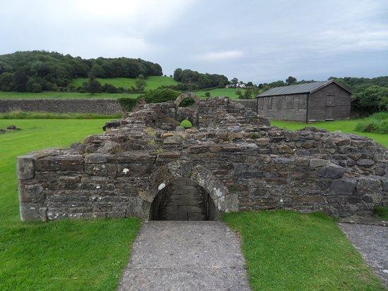 Old stone drain, Sawley Abbey