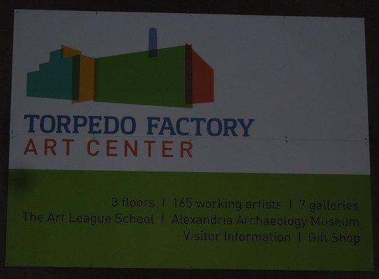 Alexandria, VA: signage on the building