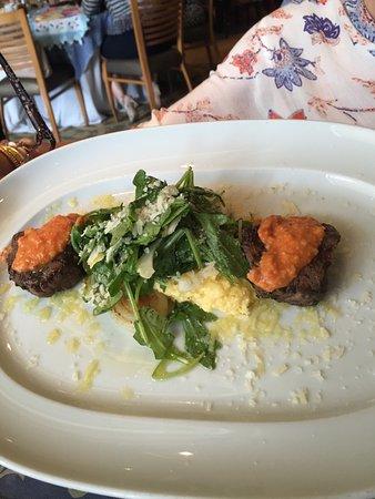 Cafe Annie: Petit filet mignon with creamy polenta