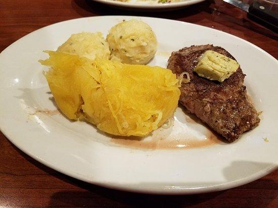 Clinton, MD: Petit Sirloin, Spagetti Squash, Mashed potatoes