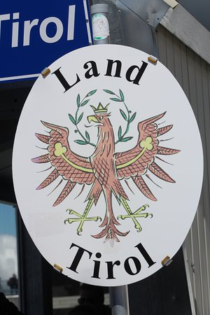 Sign showing the Austrian side.