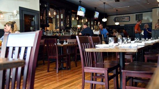 Great Barrington, MA: Nice interior setting and mood.