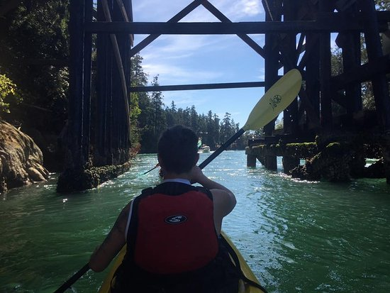 Pender Island, Canadá: Going under the bridge between North Pender & South Pender