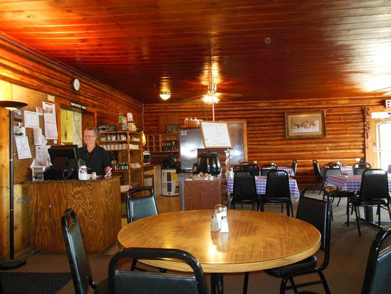 Challis, ID: inside - I sure don't see tables crowded together
