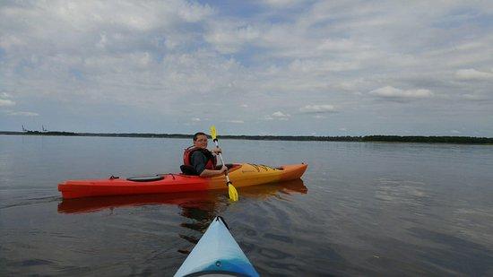 Paddle NC: My son enjoying his kayaking adventure!