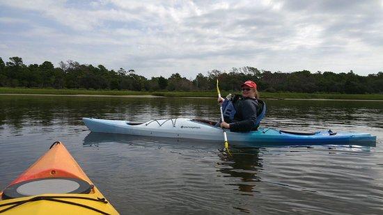 Paddle NC: Shannon enjoying kayaking!