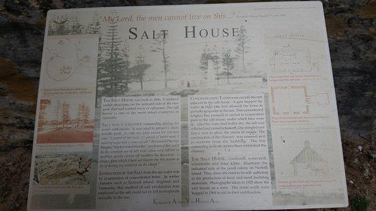 Kingston, Australia: salt house info board