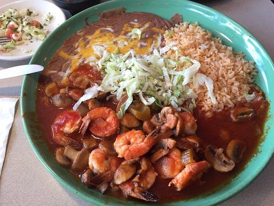 บอนเนอร์สเฟอร์รี, ไอดาโฮ: Shrimps with beans and rice