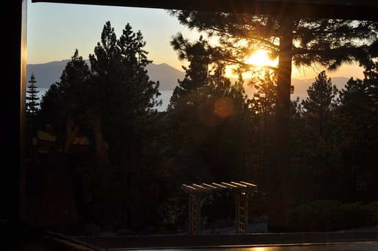 Stateline, NV: Setting sun as seen through the pines