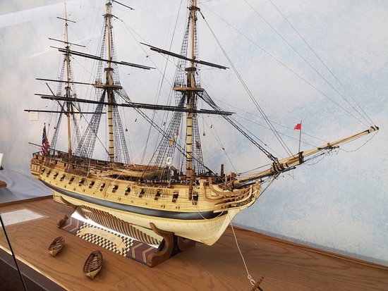 Canton, OH: A frigate done in multiple types of wood.