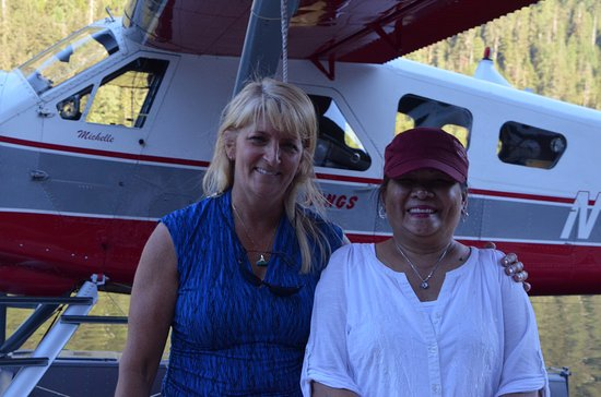Island Wings Air Service: Michelle with my wife Marie