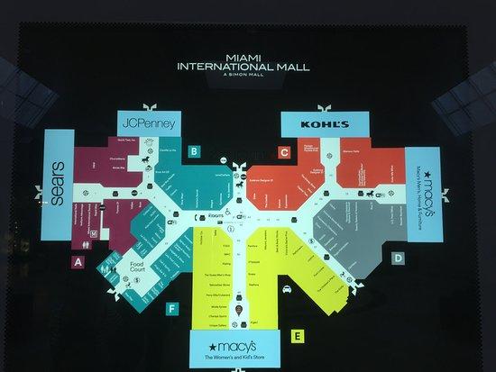 international mall miami map Mapa Del Mall Picture Of Miami International Mall Doral international mall miami map