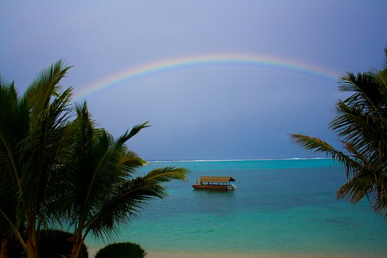 Pacific Resort Rarotonga : You can't beat the view from the Beachfront Suites, even on a rainy day!