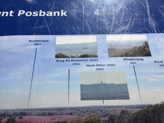 Rheden, Nederländerna: De POSBANK op de mooiste berg van Nederland in de Veluwse Zoom.