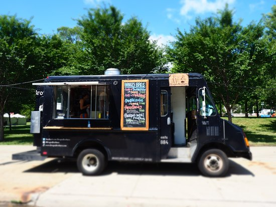 "Grant Park, IL: The ""Bruge Brothers"" food truck featuring frites"