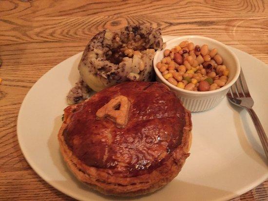 Brecon Tap steak pie - lovely!