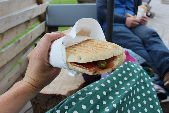 Slagelse, Danmark: Grillet sandwich