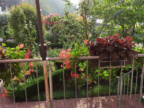 Merzig, Duitsland: Schöner Blick in den Garten