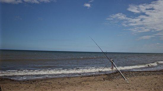 Hornsea, UK: At the beach, clean lovely sandy beach.