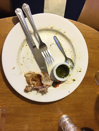 Takeley, UK: Errr was it nice....... proof is in the leftovers