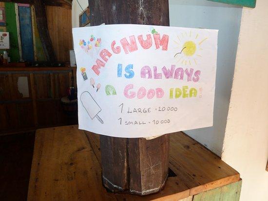 Bira, Indonesia: The best Magnums ever!! #magnumkingandqueen #supportlocalbusiness