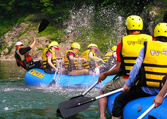Pyeongchang-gun, Νότια Κορέα: rafting