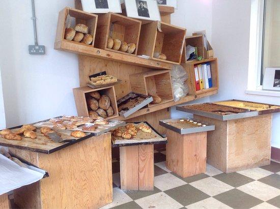 Rousdon, UK: The Sunday morning cake (& bread) selection!
