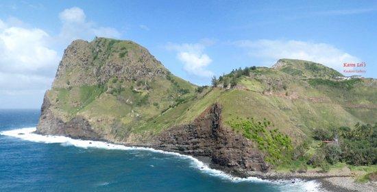 Wailuku, HI: Karen Lei's, Kaukini Gallery sits on the cliff above Kahakuloa Bay