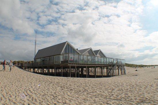 De Cocksdorp, Nederländerna: ristoranti on the beach
