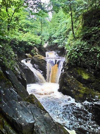 Ingleton, UK: One of the many waterfalls to appreciate