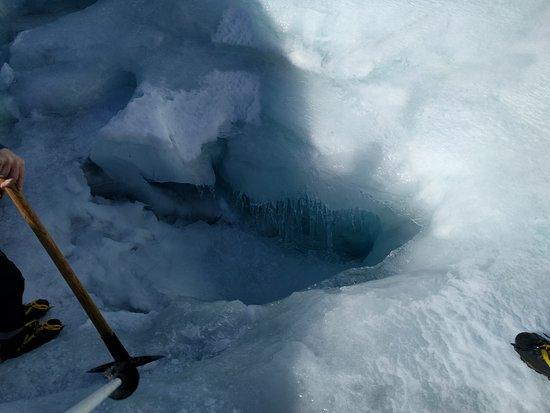 Ледник Фокса, Новая Зеландия: Down the Hole