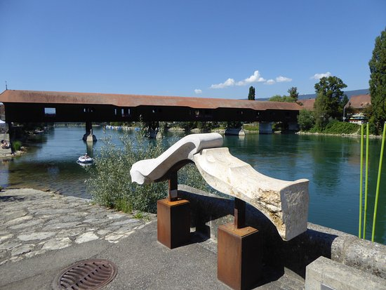 Buren an der Aare, Suiza: La vue de la terrasse