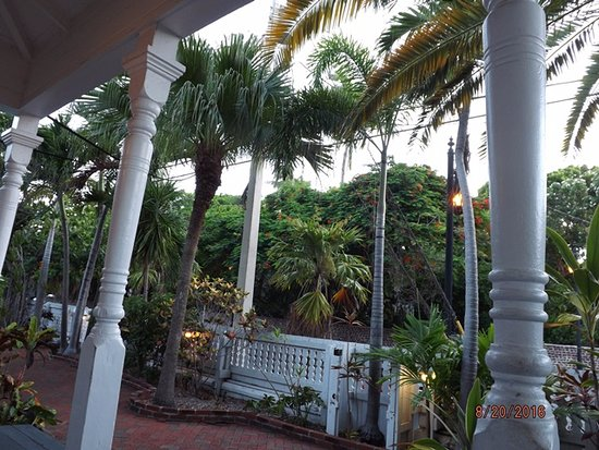 Lighthouse Court Hotel in Key West: View from my room porch