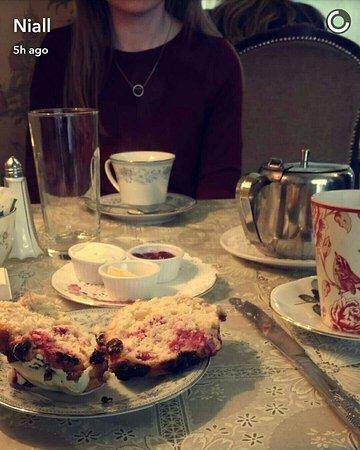 Gray's Tea Rooms Strabane: White chocolate and raspbeery scones!!