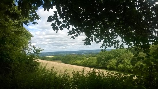 Horndean, UK: View from the South Downs Way