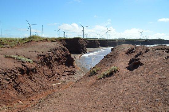 Tignish, Canadá: North cape shore and wind farm