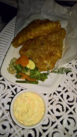 Riebeek-West, แอฟริกาใต้: Crispy battered hake and chips