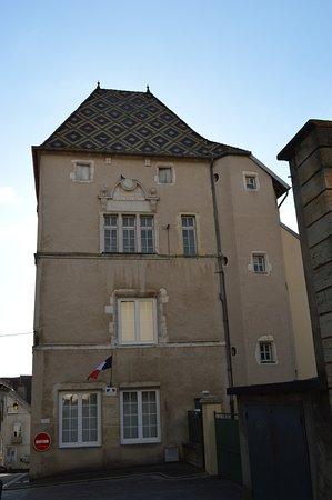 Gray, France: Facade et toit de tuiles vernissées de l'Hôtel Gauthiot d'Ancier