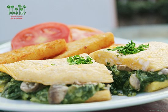 Spinach & Mushrooms Omelette