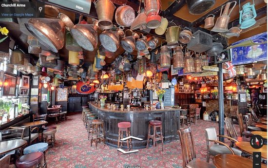 The first room one sees when walking into the pub.