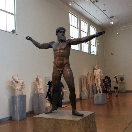 Bronze statue of Zeus or Poseidon.